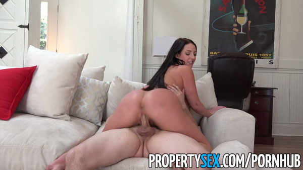 PropertySex - Sex addict tenant with big tits fucks landlord